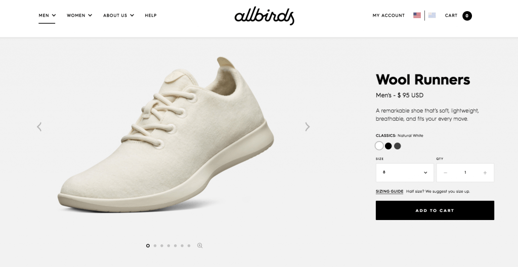 allbirds website