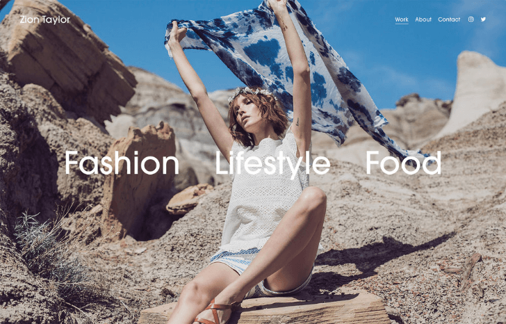 fashion photography website template