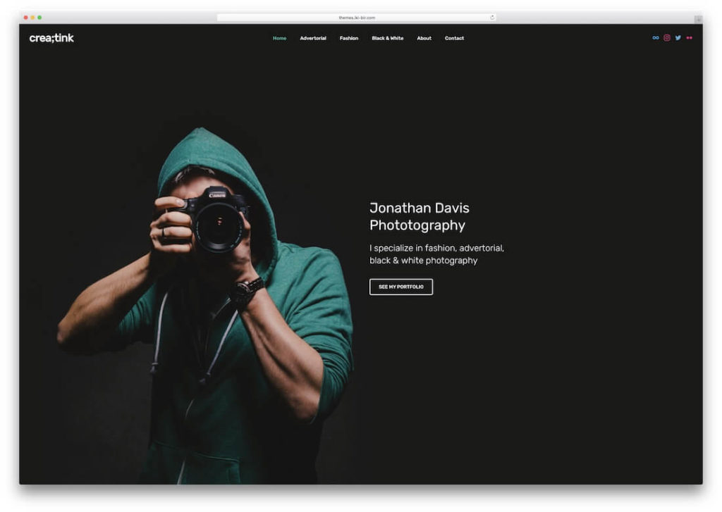 website templates for photography