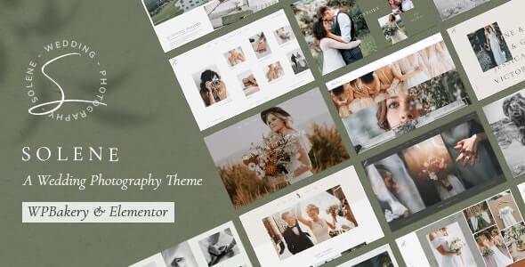 wedding photography website template