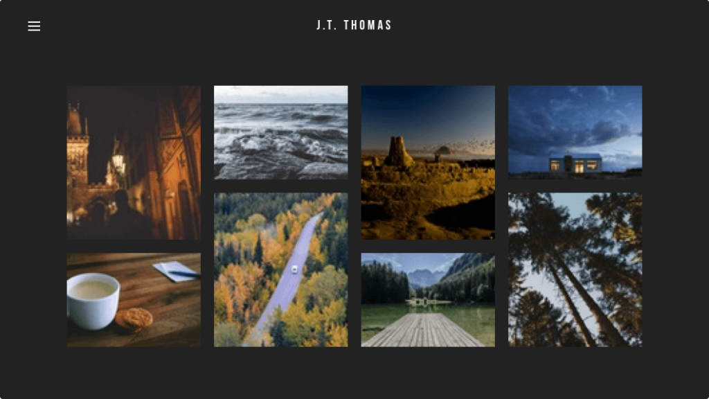 weebly website template photography