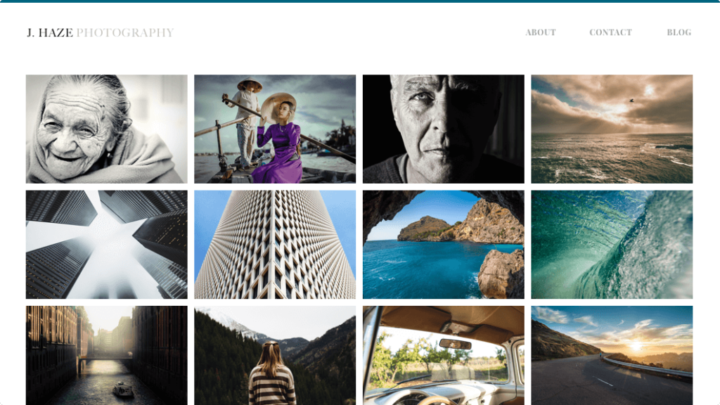 weebly photography website