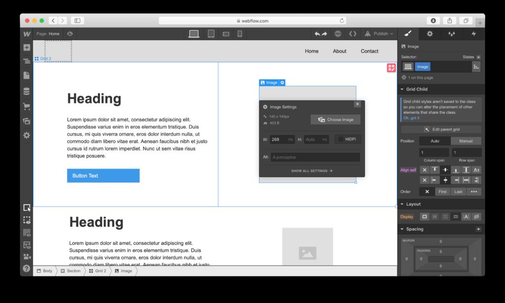webflow review website builder
