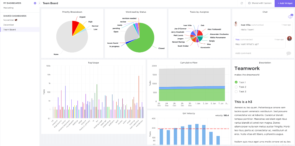 ClickUp Review Dashboard
